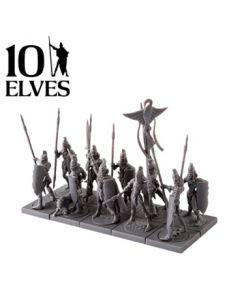 Kings of War Elves spearmen troop