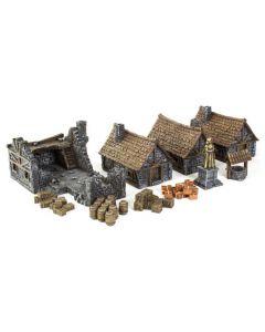 Gamemat prepainted medieval Town set