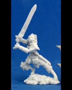Reapermini Deenah, female Barbarian