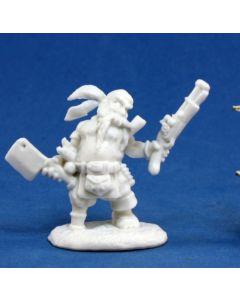 reapermini Gruff Grimecleaver, Dwarf Pirate
