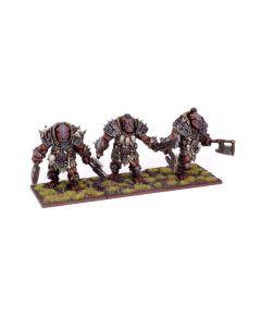 Kings of War Ogre Berserker Braves Regiment