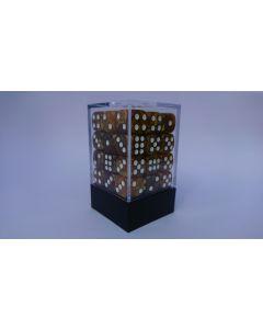 Dice Block 36D6 Marble brown/ gold