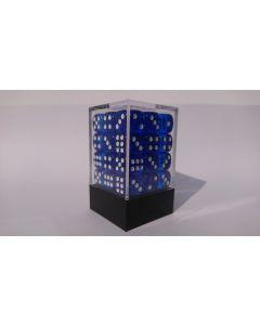 Dice Block 36D6 translucent blue