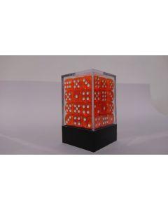 Dice Block 36D6 translucent orange