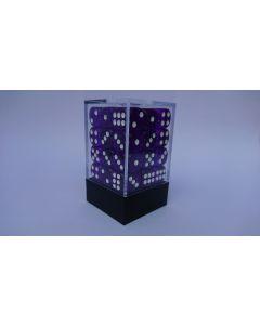 Dice Block 36D6 translucent purple