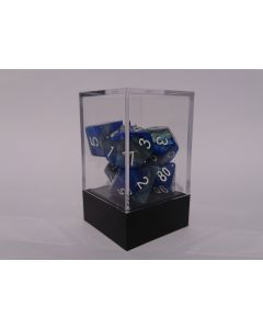 Dice Block RPG set 2tone blue grey