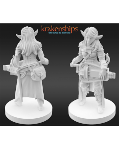Krakenships Phoradin Femaie bard