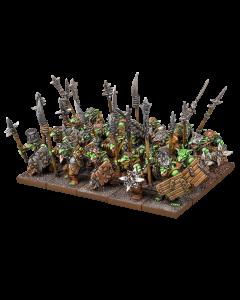 Kings of War Goblin regiment (sharpsticks, rabble or spitters)