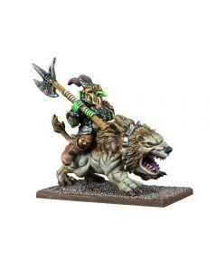 Kings of War Goblin King on Mawbeast