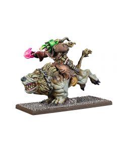 Kings of War Goblin Wiz on Mawbeast