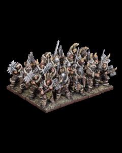 Kings of War Northern Alliance Two handed Clansmen regiment
