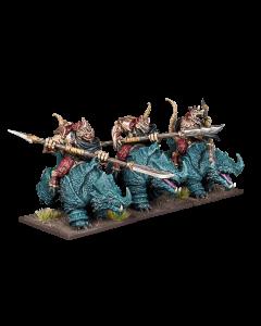 Kings of War Salamander Rhinosaur Cavalry regiment