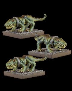 Kings of War Vanguard Ogre crocodogs (3)